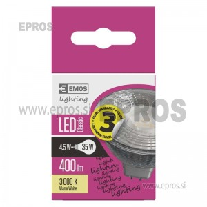 LED žarnica classic MR16 4,5W GU5,3 WW