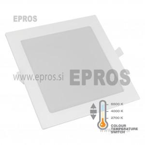 Vgradni LED panel kvadratni 12W COMMEL 2700-6500K 170 x 170 mm
