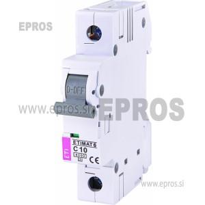Instalacijski odklopnik - avtomatska varovalka ETI  ETIMAT 6 1p C10