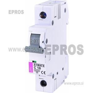 Instalacijski odklopnik - avtomatska varovalka ETI ETIMAT 6 1p C16