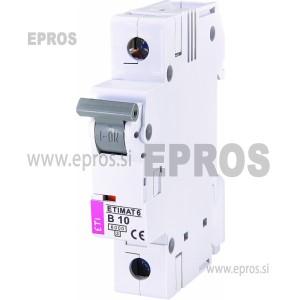 Instalacijski odklopnik - avtomatska varovalka ETI ETIMAT 6 1p B10   ETIMAT 6 1p B10