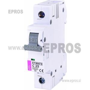 Instalacijski odklopnik - avtomatska varovalka ETI  ETIMAT 6 1p C25