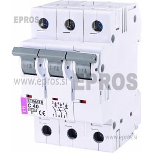 Instalacijski odklopnik - avtomatska varovalka ETI  ETIMAT 6 3p C40
