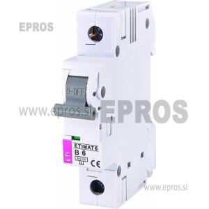 Instalacijski odklopnik - avtomatska varovalka ETI ETIMAT 6 1p B6