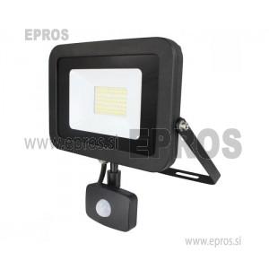 Reflektor LED 30W s senzorjem COMMEL črni